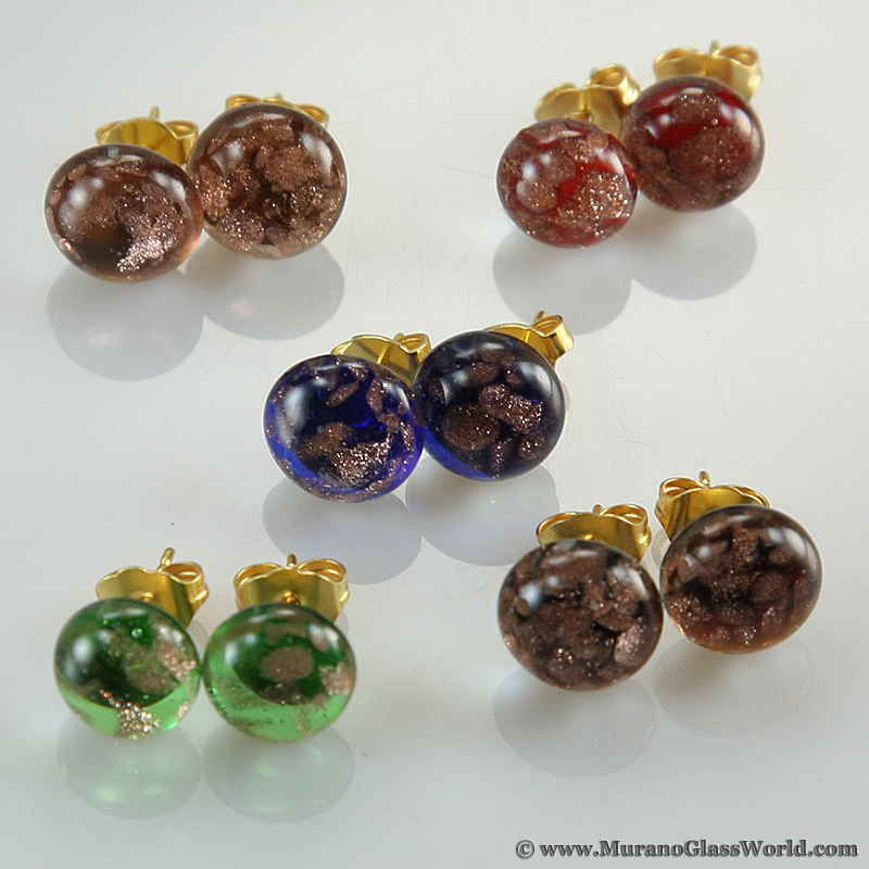 Starlight small stud Murano earrings