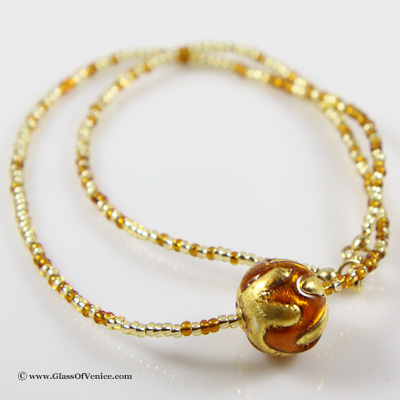 Royal Cognac Ball necklace