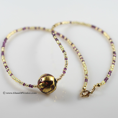 Royal Amethyst Ball necklace