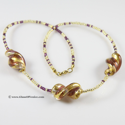 Royal Amethyst Spiral necklace