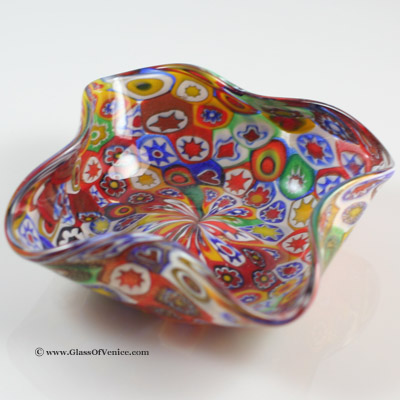 Murano Golden Quilt Millefiori Ashtray