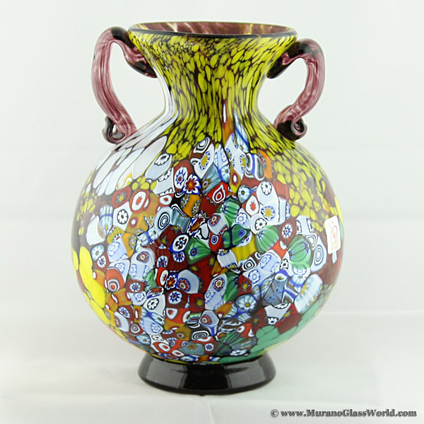 Wholesale Murano Glass Vases Murano Millefiori Art Glass Vase