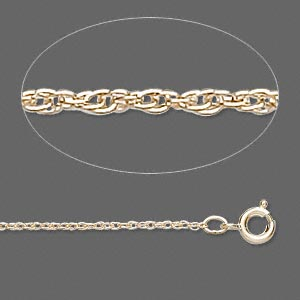 Gold-filled triple-rope chain, 1mm links - 16 inches