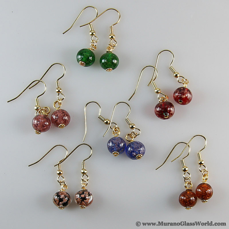 Starlight balls Murano earrings