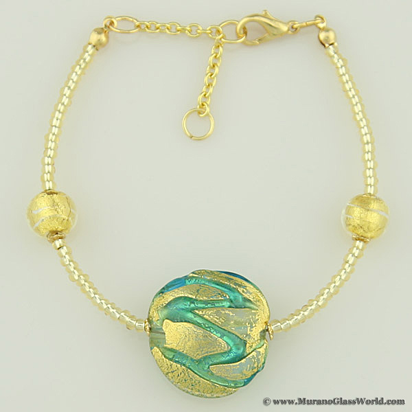 Royal Aquamarine Circle bracelet