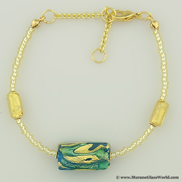 Royal Aquamarine Block bracelet