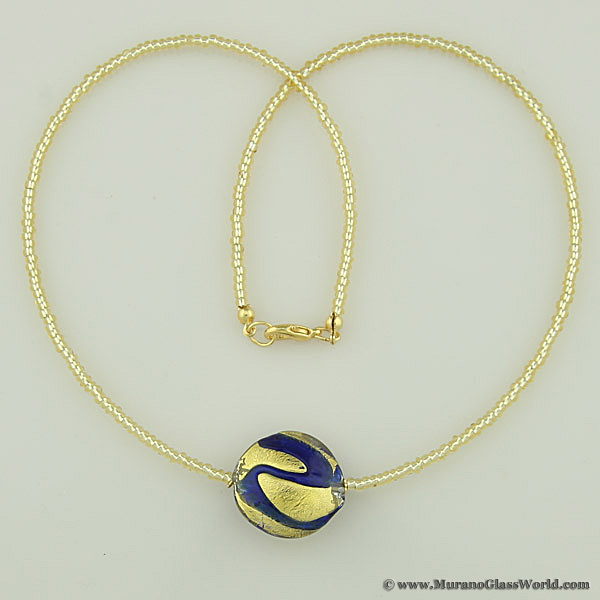 Royal Blue Circle necklace