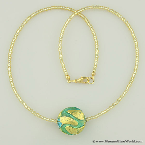 Royal Aquamarine Circle necklace