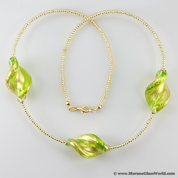 Royal Green Spiral necklace