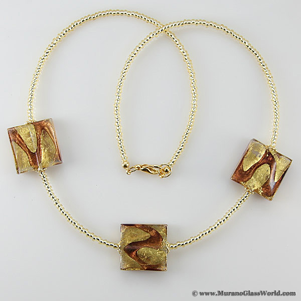 Royal Amethyst Squares necklace