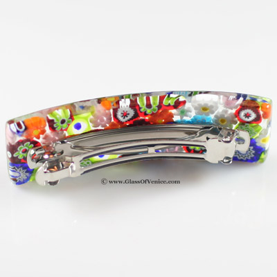 Color Splash Murano Millefiori hair clip