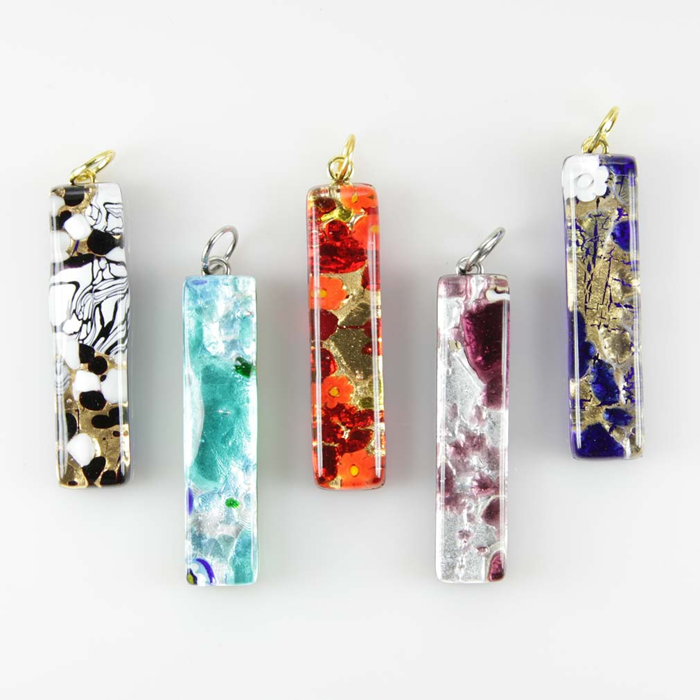 Venetian Reflections Stick Pendant