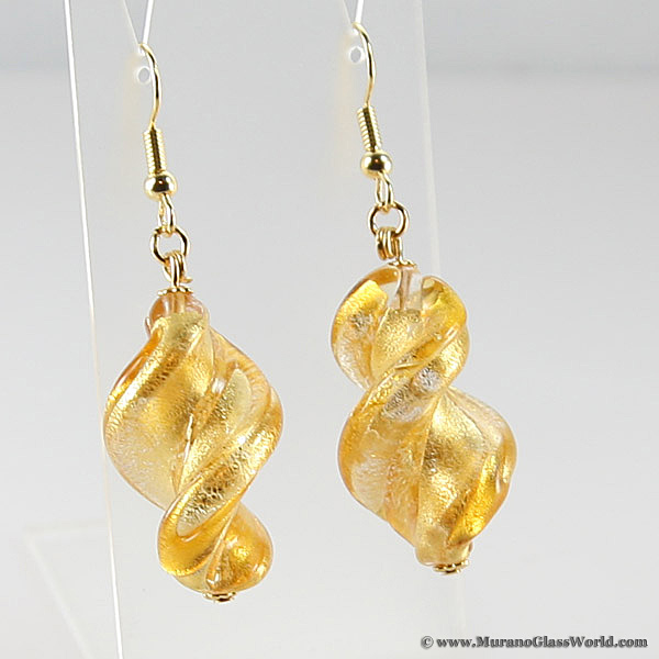 Royal Gold Spiral earrings