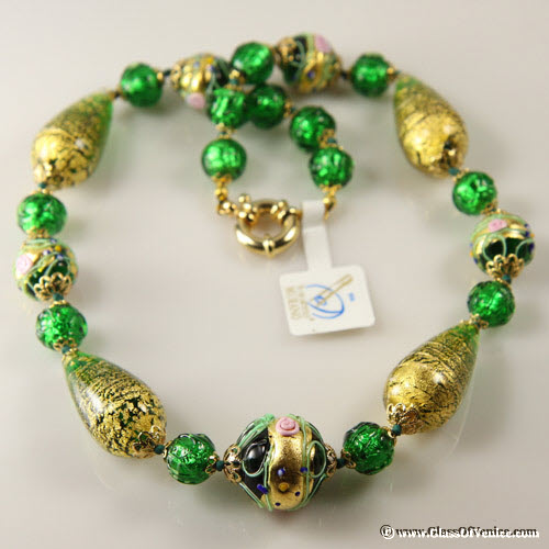 Necklace Carnivale di Venezia - Emerald