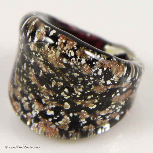 Amber Sparkle Murano ring