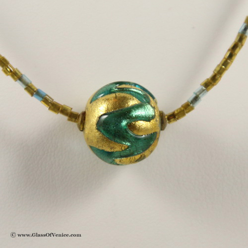 Royal Aqua Ball necklace