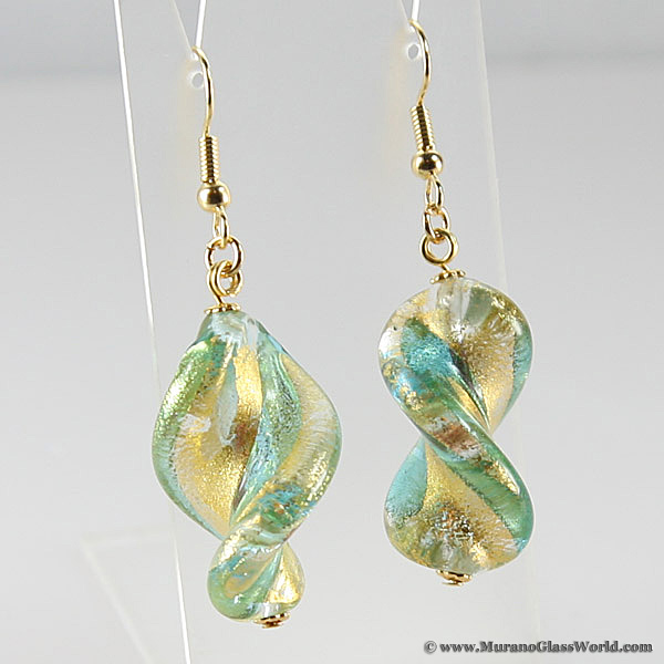 Royal Aqua Spiral earrings