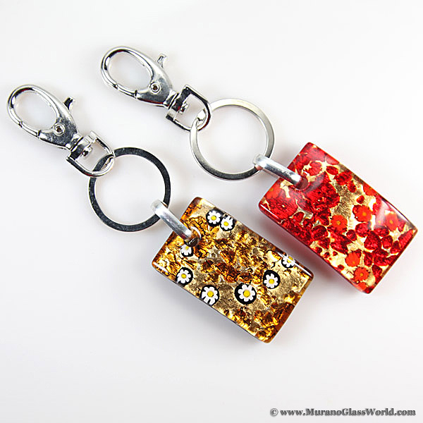 Murano Colors Rectangular Keychain